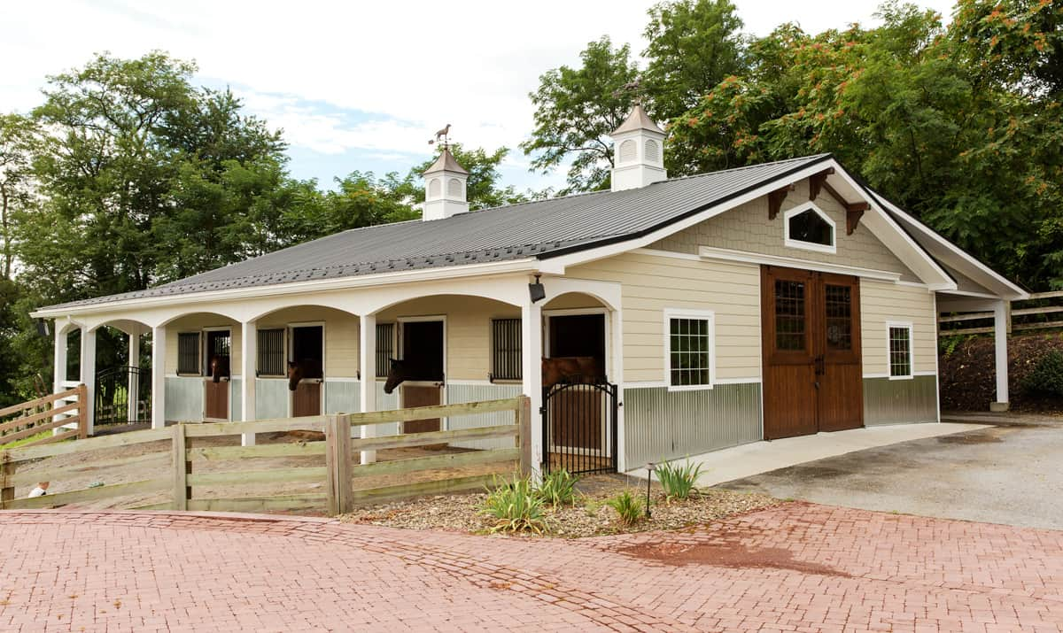 horse stalls dutch doors cupola barn door