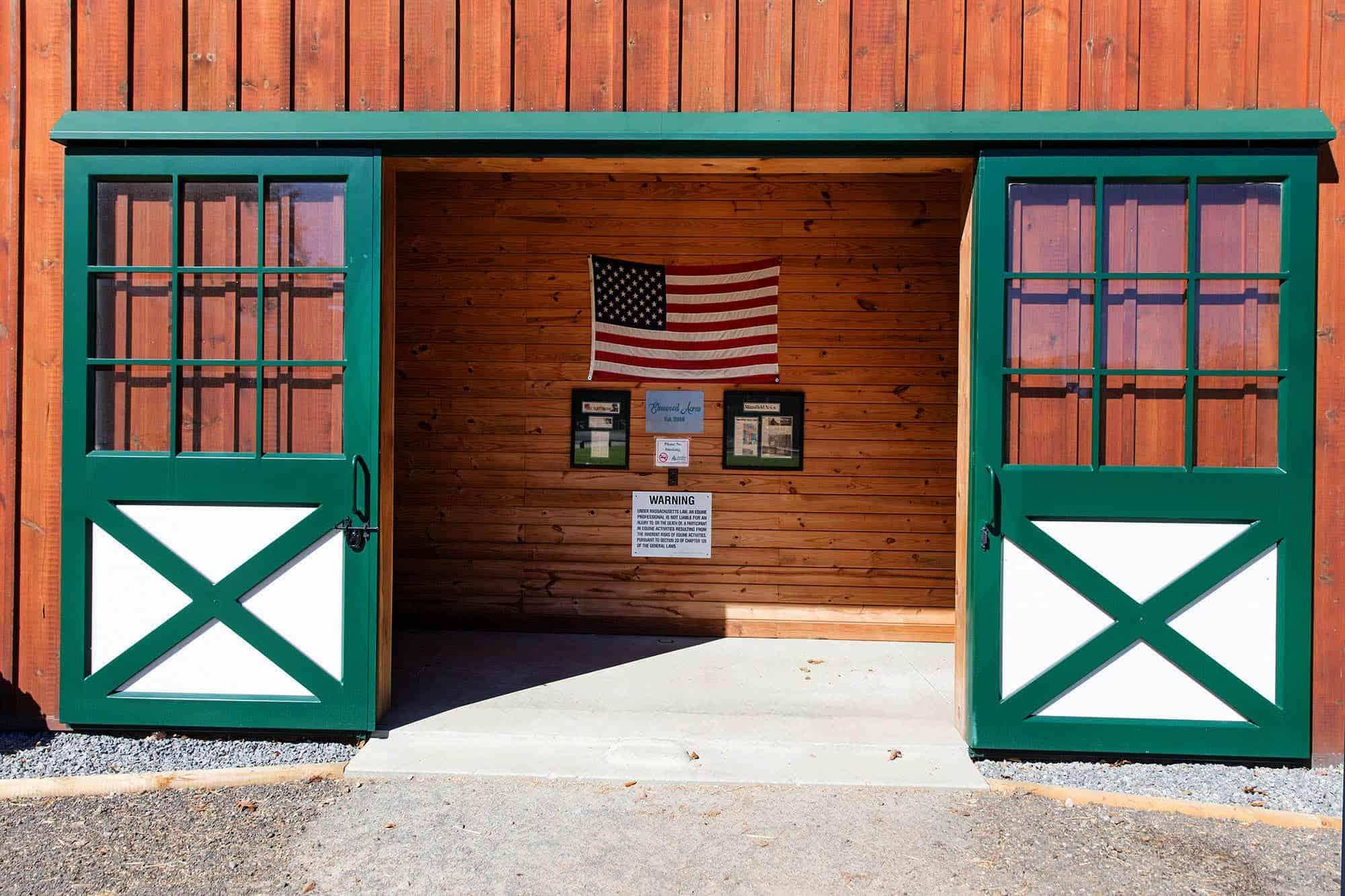 barn doors usa flag go america