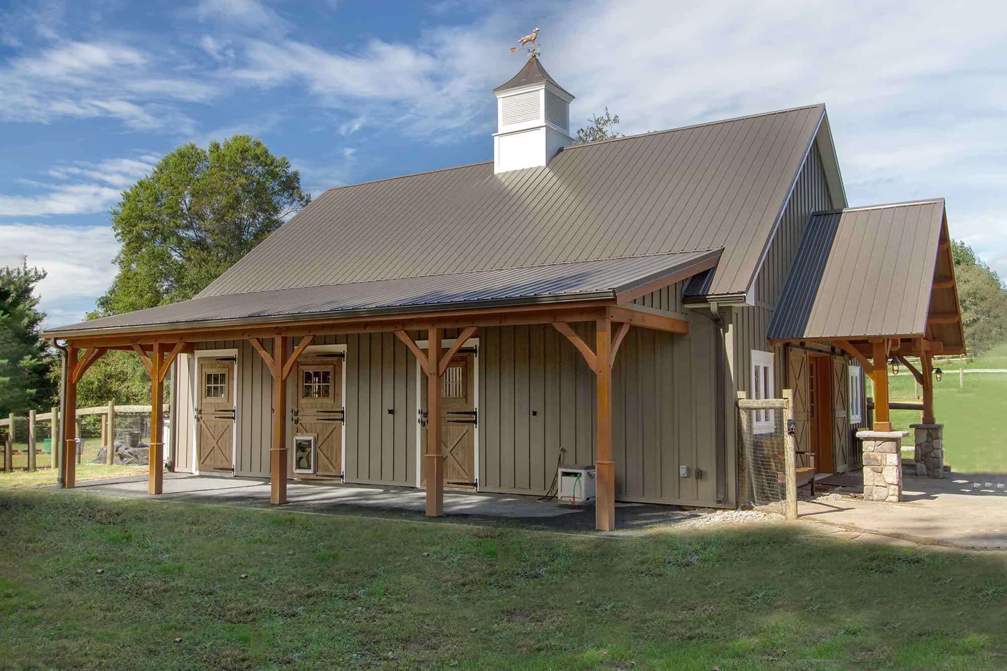 mass timber cupola horse stalls