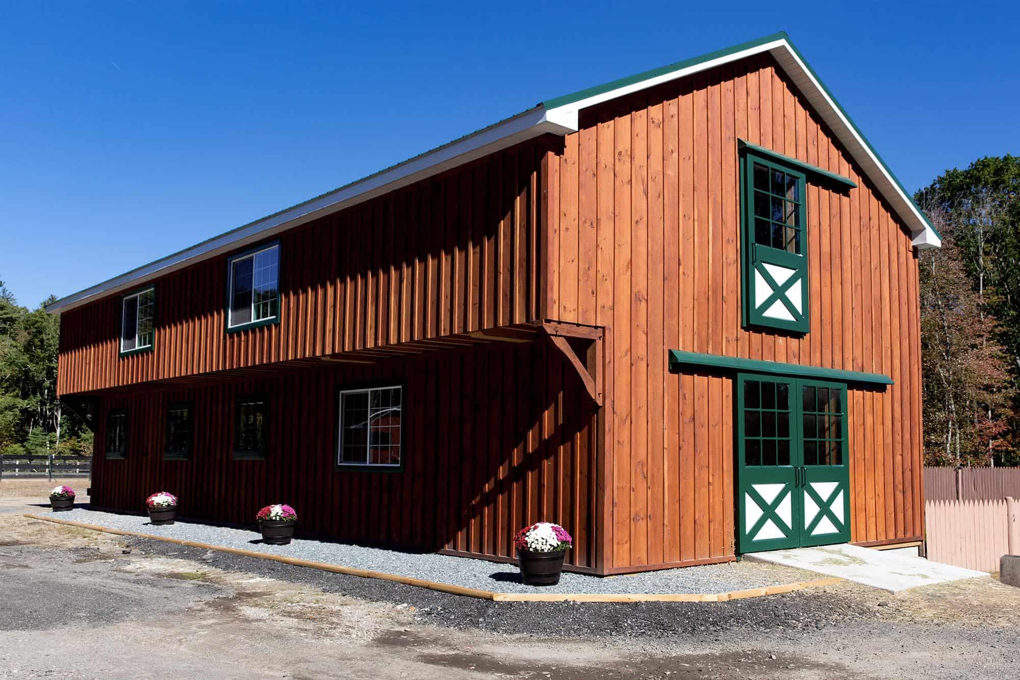 cantilever barn door flower pot