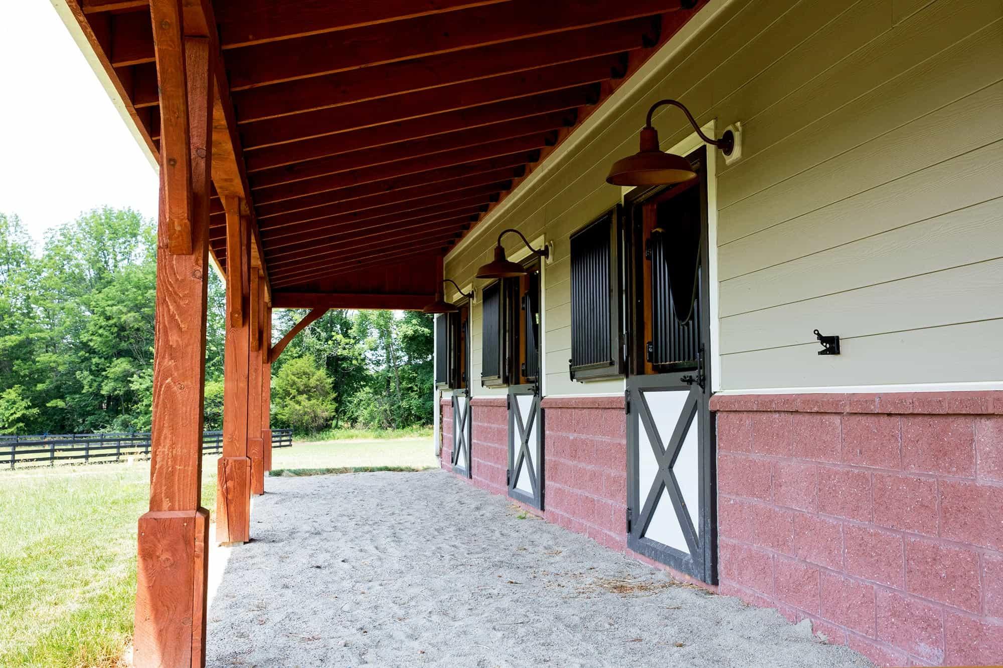 horse stalls dutch doors mass timber