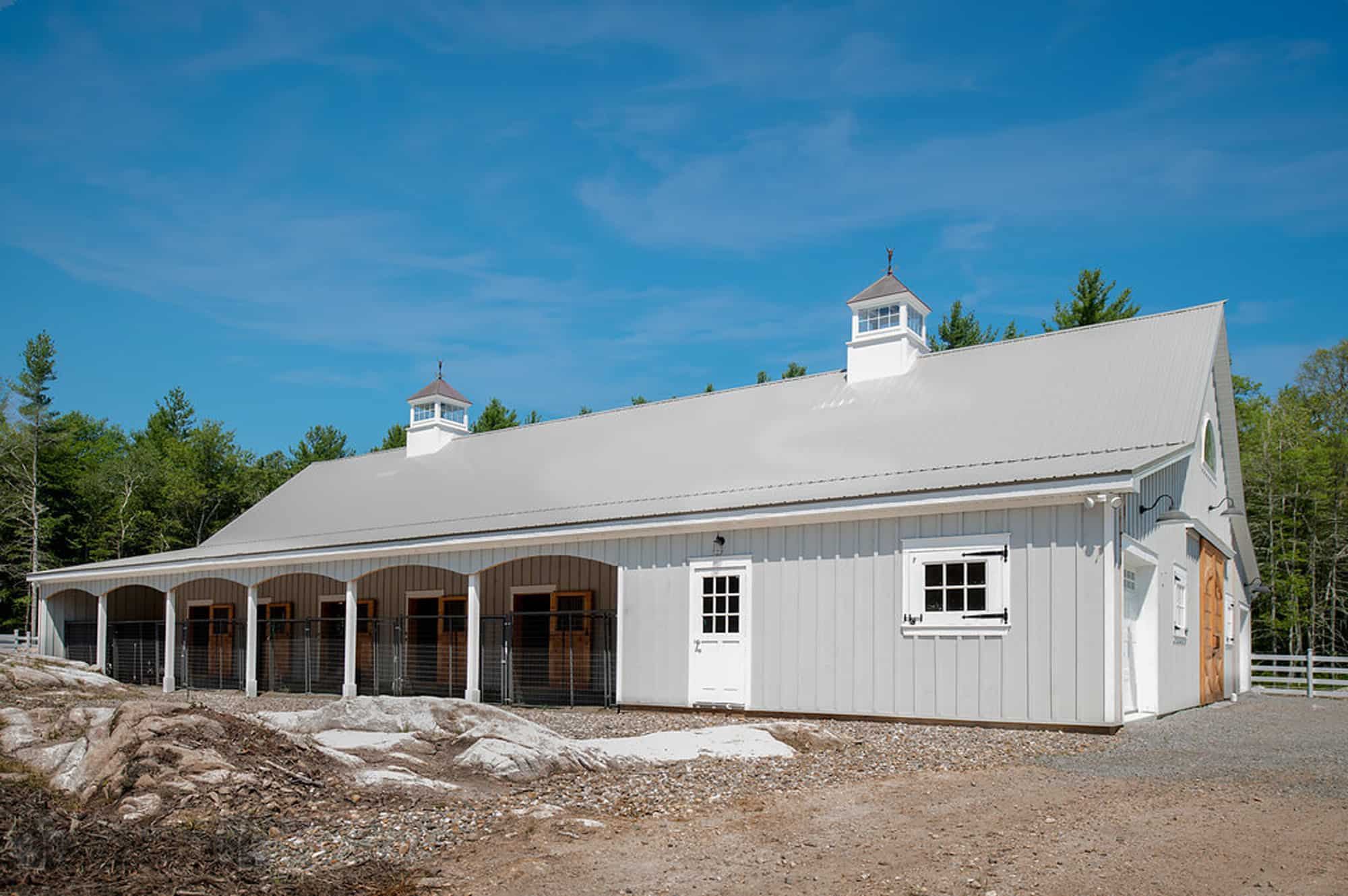 horse stalls cupola metal roof