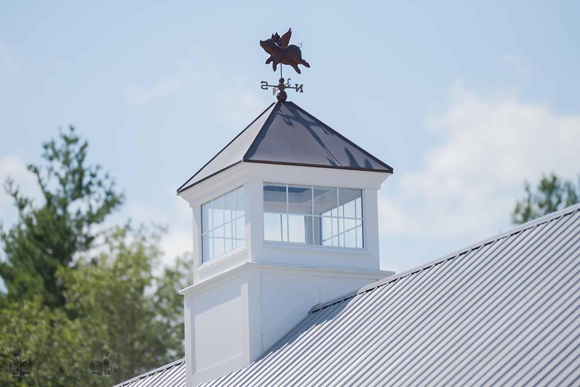 flying pig cupola weather vane horse stalls