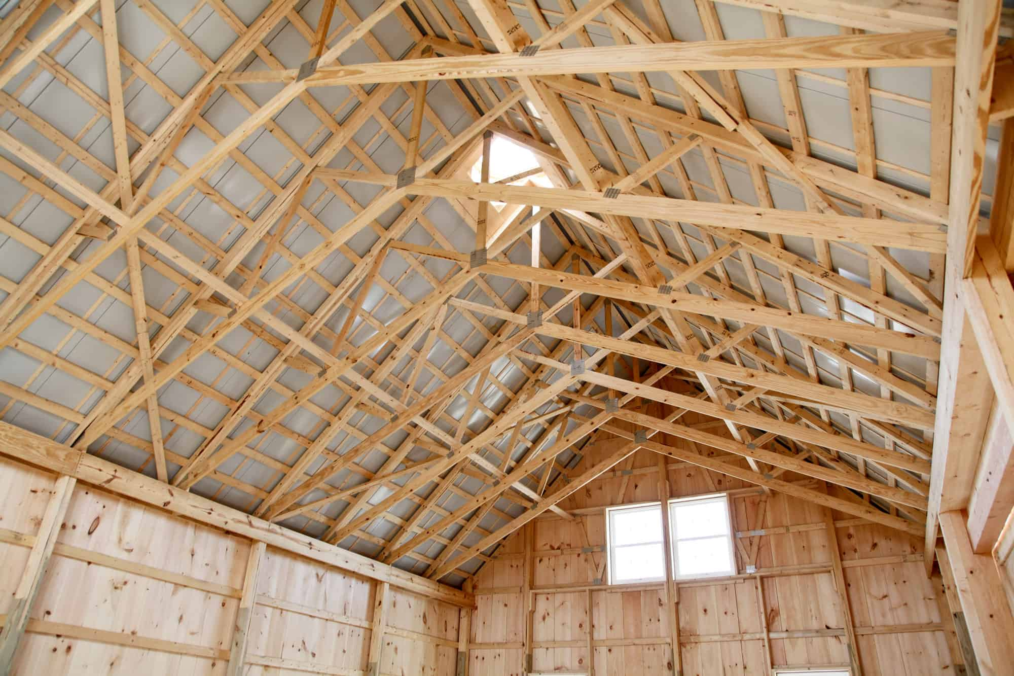 wood truss skylight barndo
