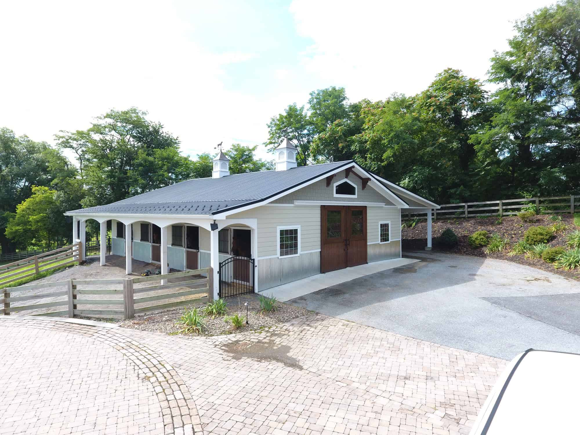 horse stalls cupola barn doors
