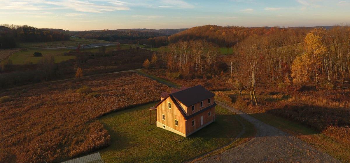 wilderness drone barn style