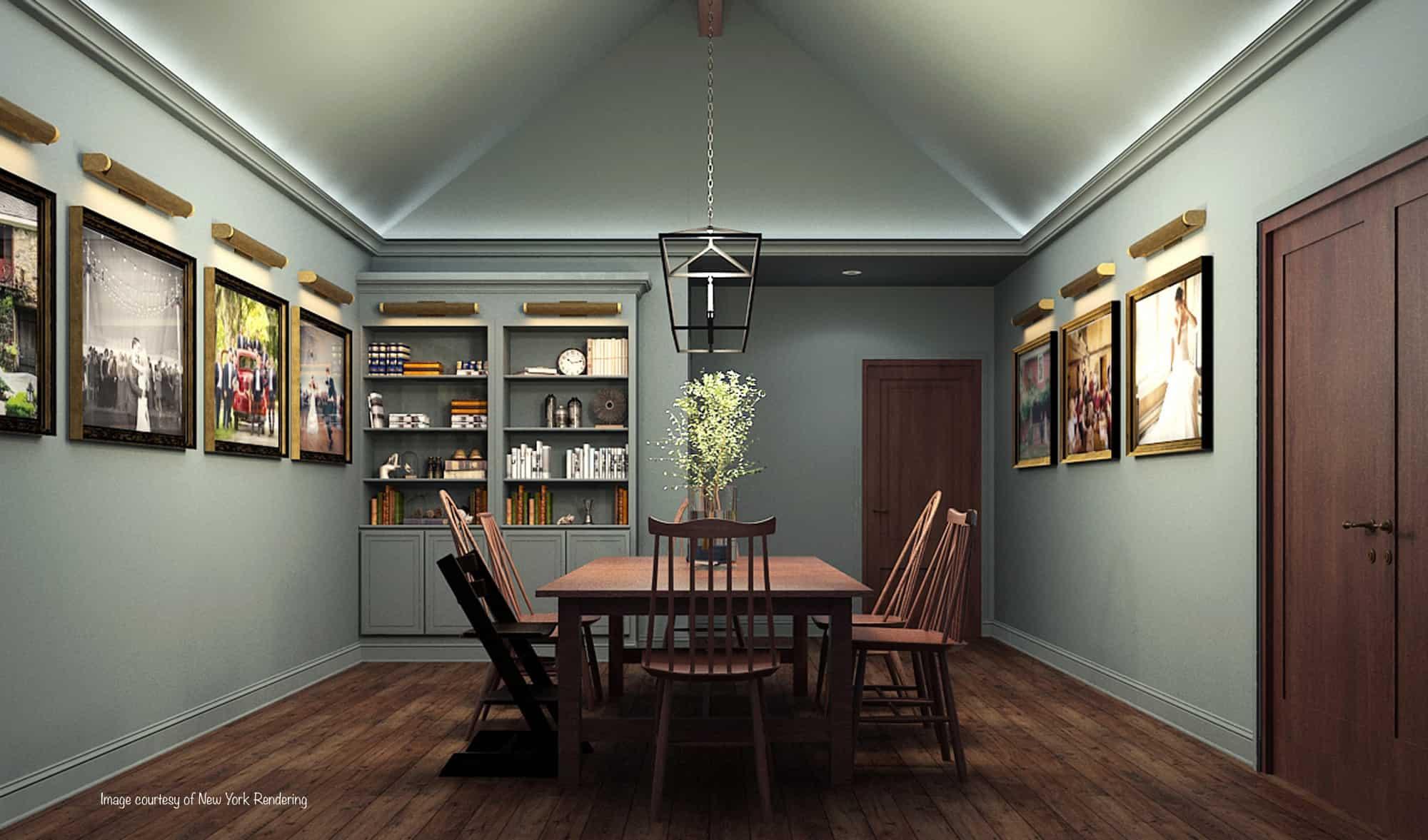 groom suite chandelier hardwood floor