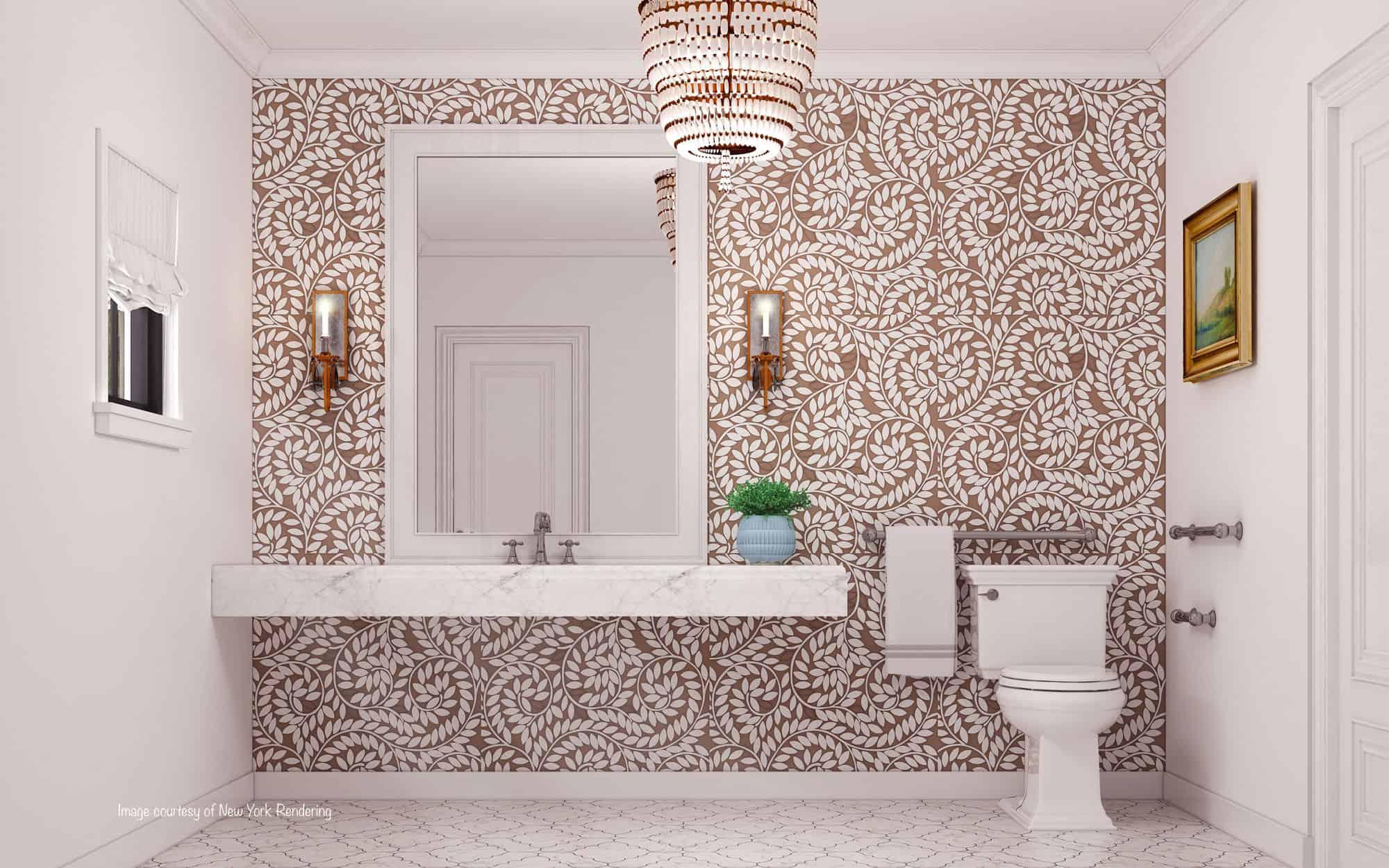 bathroom feature wall royal treatment
