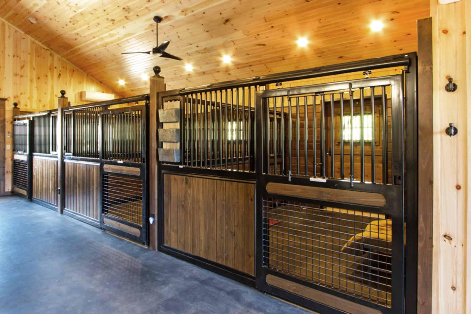 horse stalls ceiling fan white pine