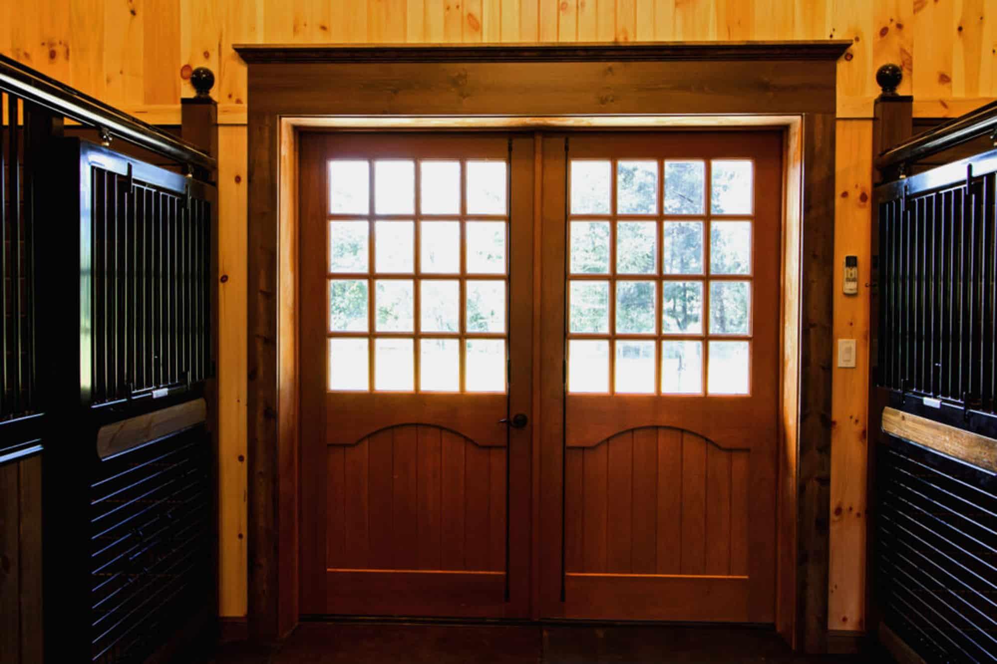 horse stalls double doors