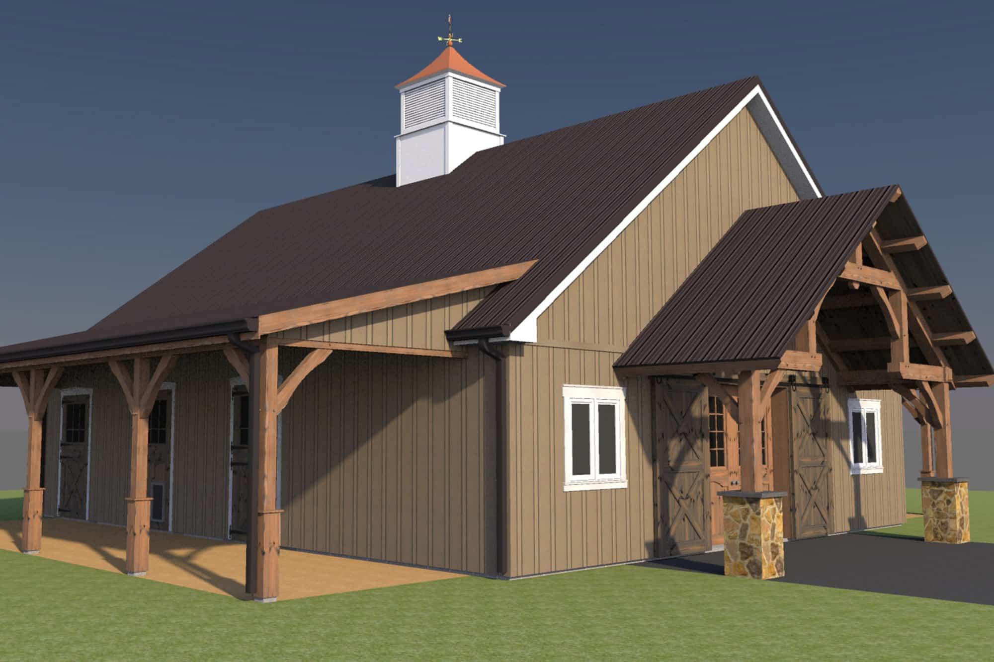 party barn cupola grand entryway