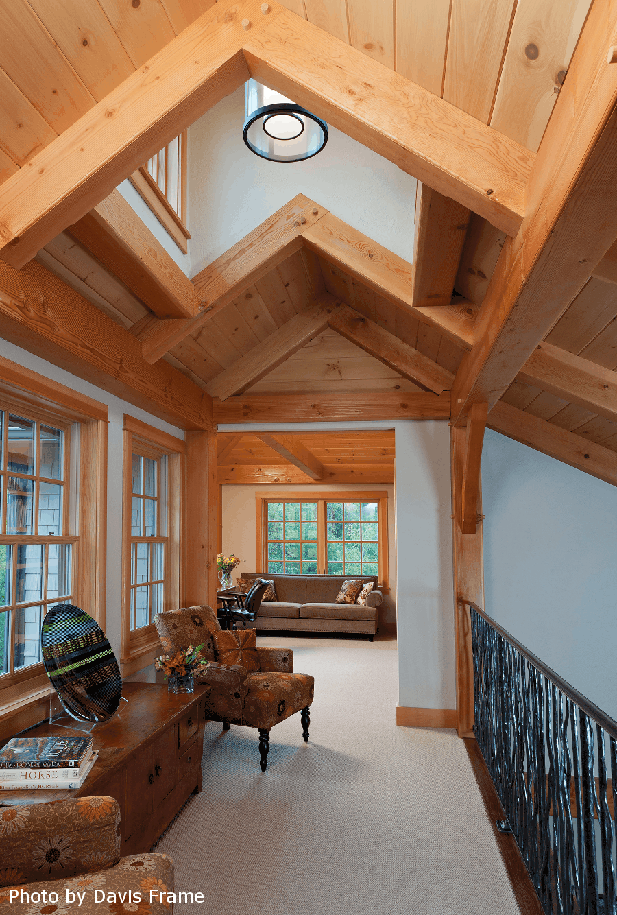 mass timber sitting area skylight