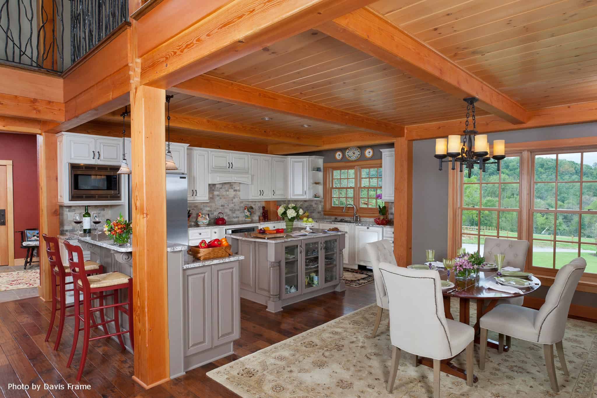 mass timber kitchen eat in