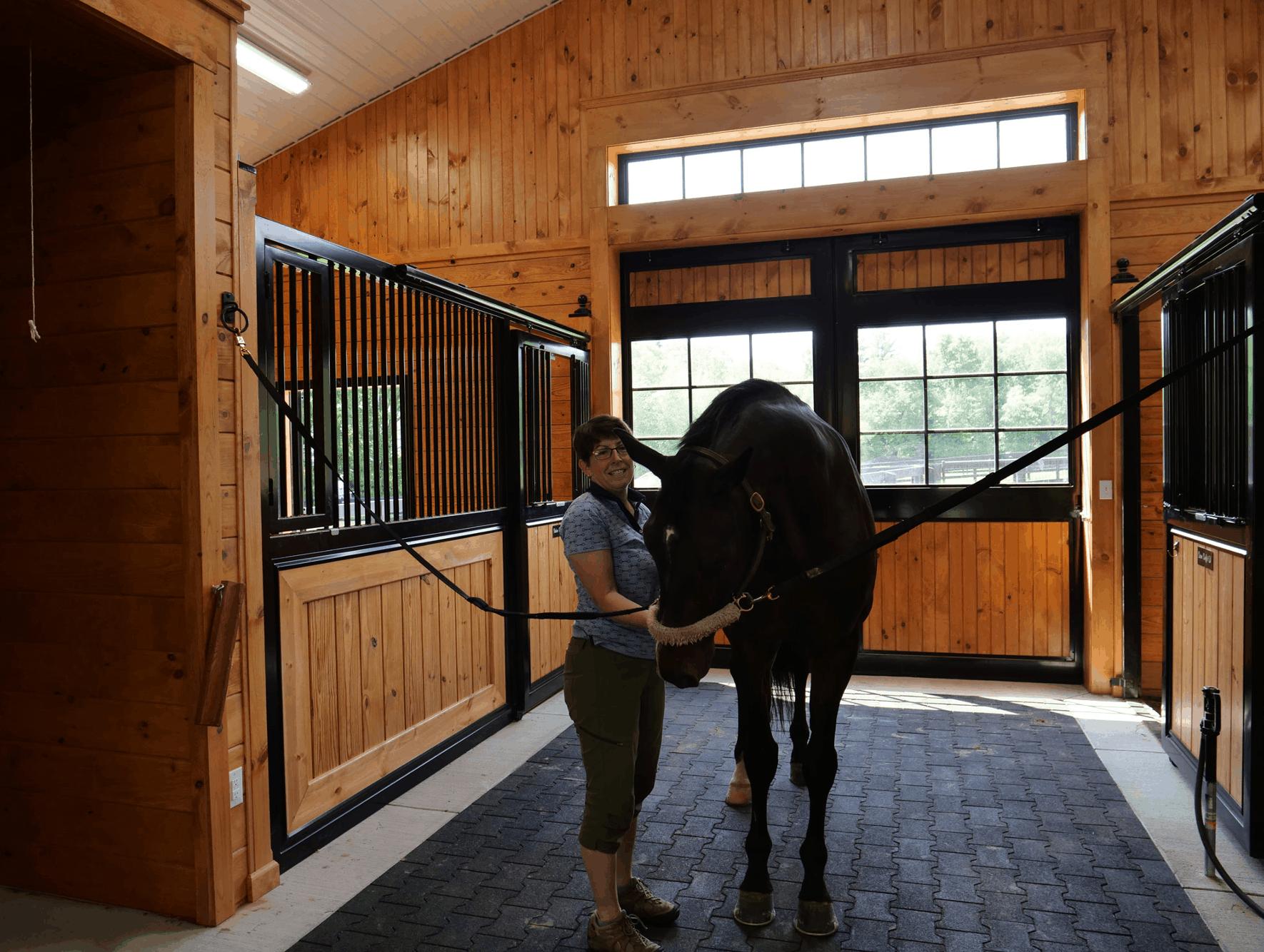 horse stalls groom tunnel