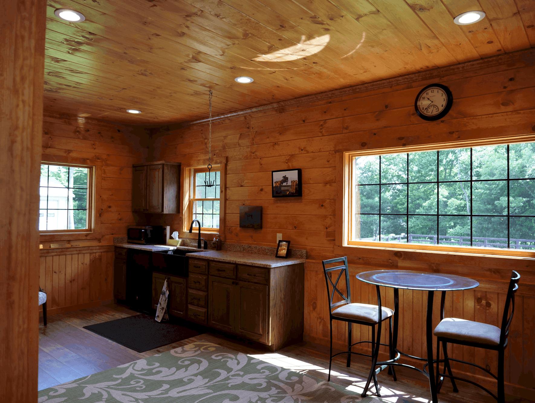 lounge area kitchenette