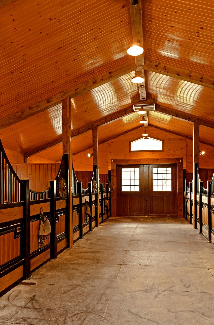 horse stalls tunnel