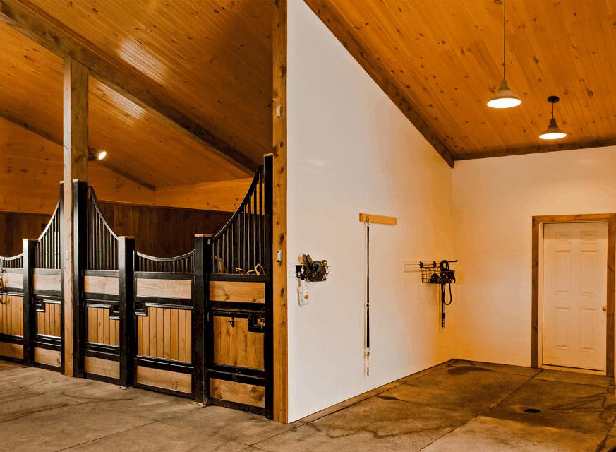 horse stalls wash room