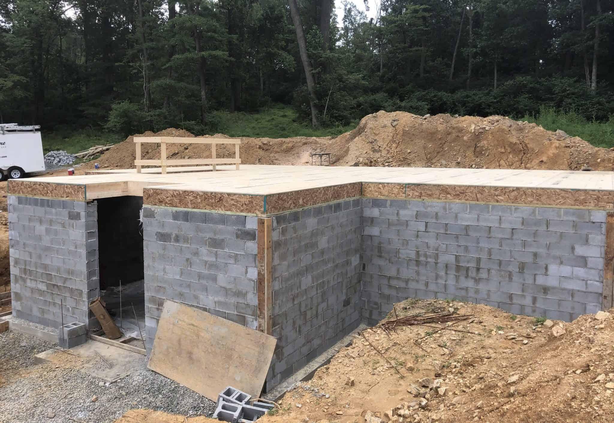 foundation cinder block mass timber