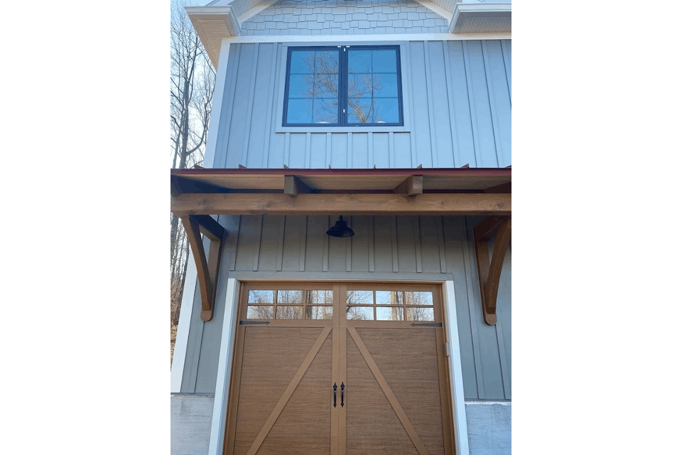mass timber garage door