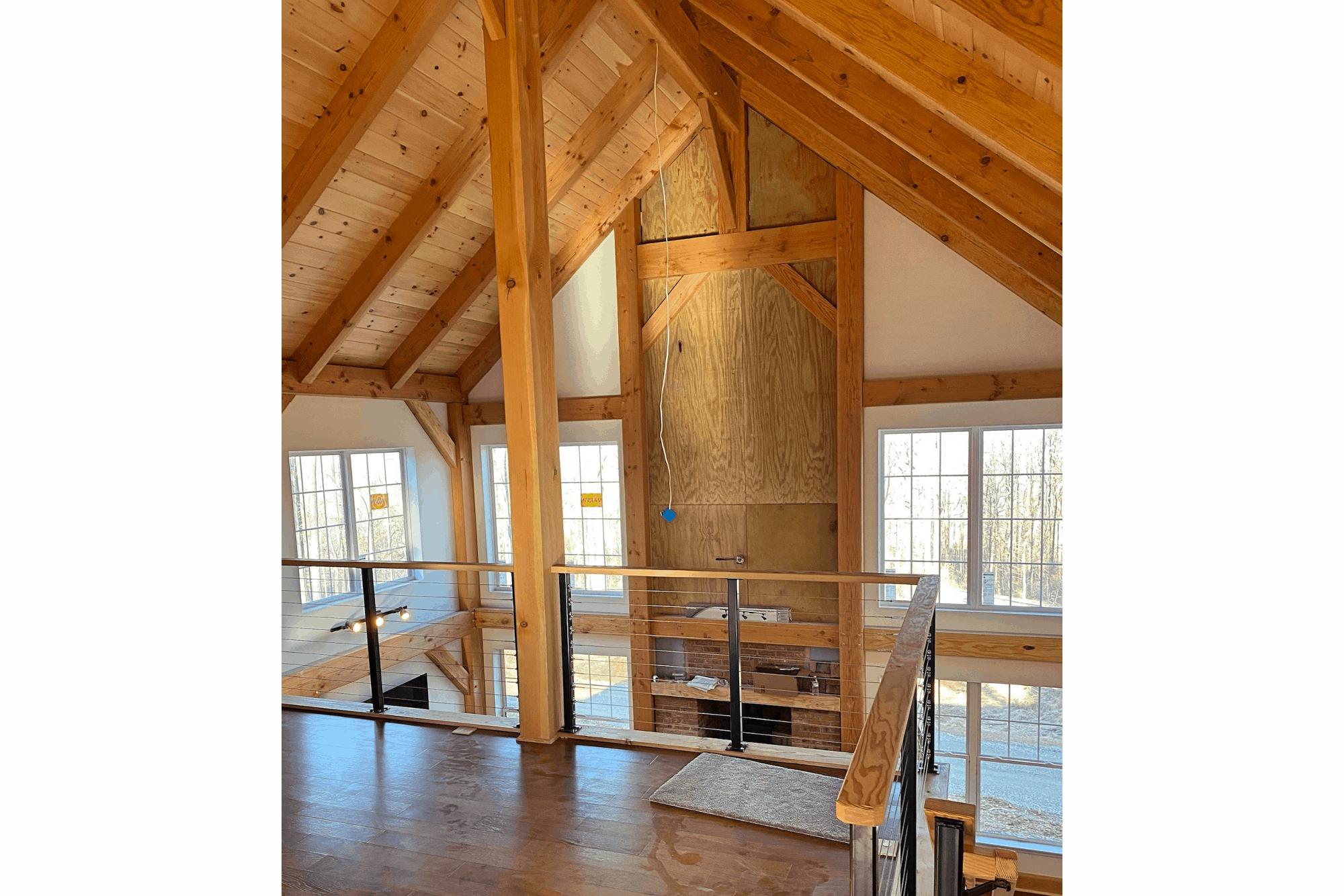 mass timber custom home loft