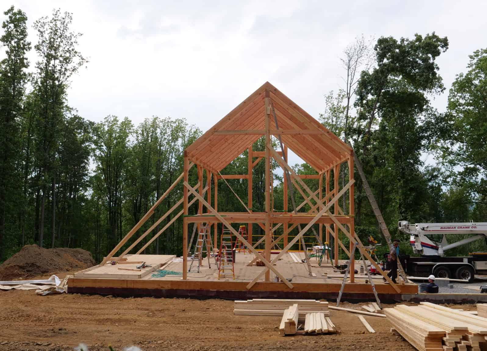mass timber crane amish
