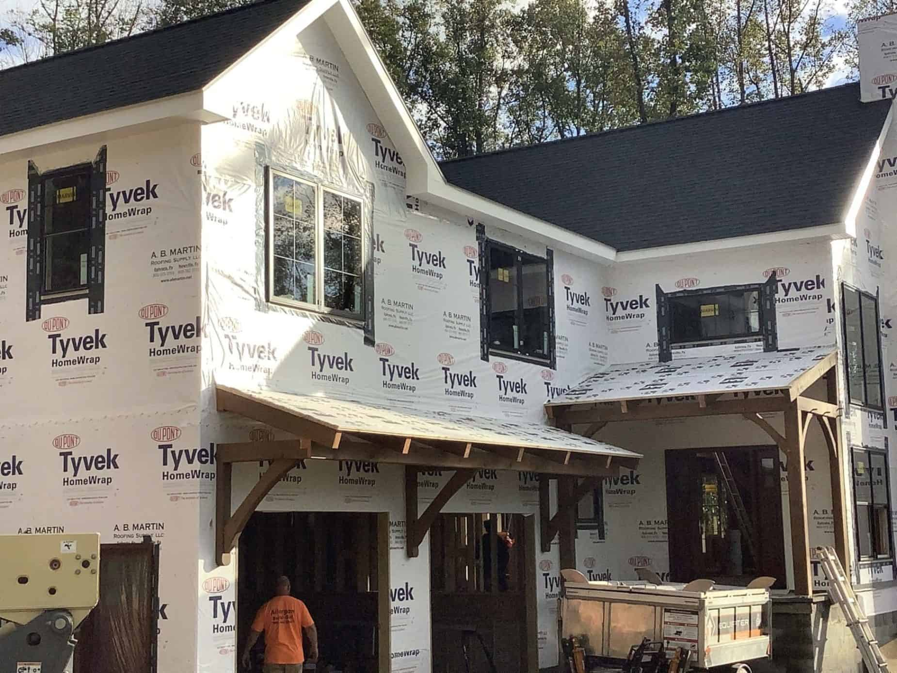 mass timber tyvek