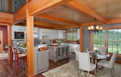 mass timber eat in kitchen