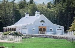 barn door cupola lean to