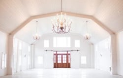pure white chandelier mass timber