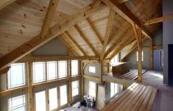 mass timber window wall loft