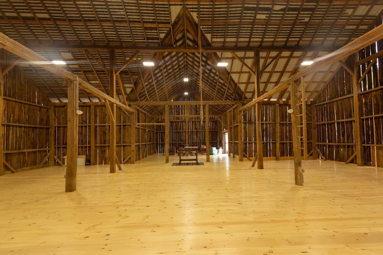 wood floor barn frame mass timber