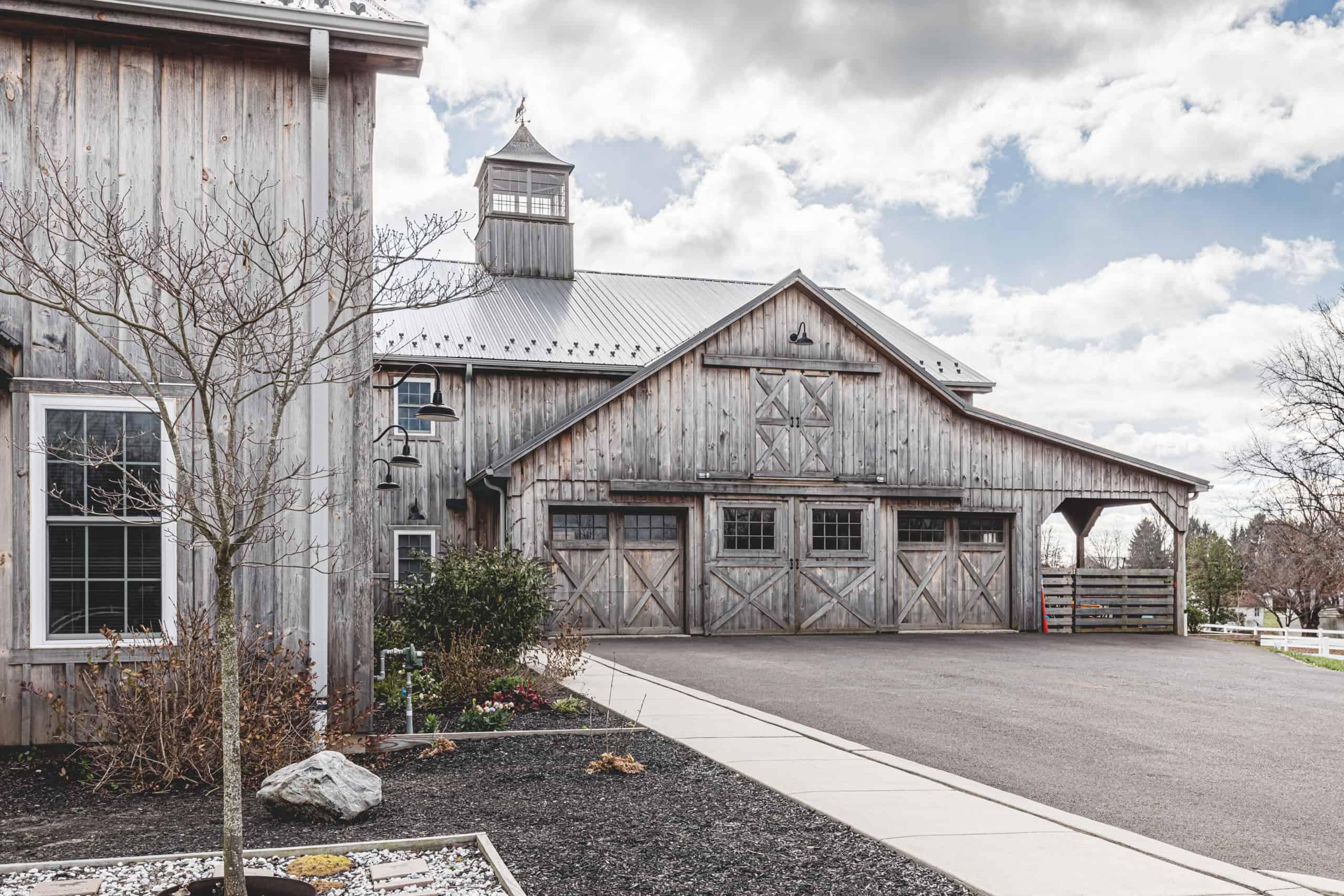 exterior horse barn